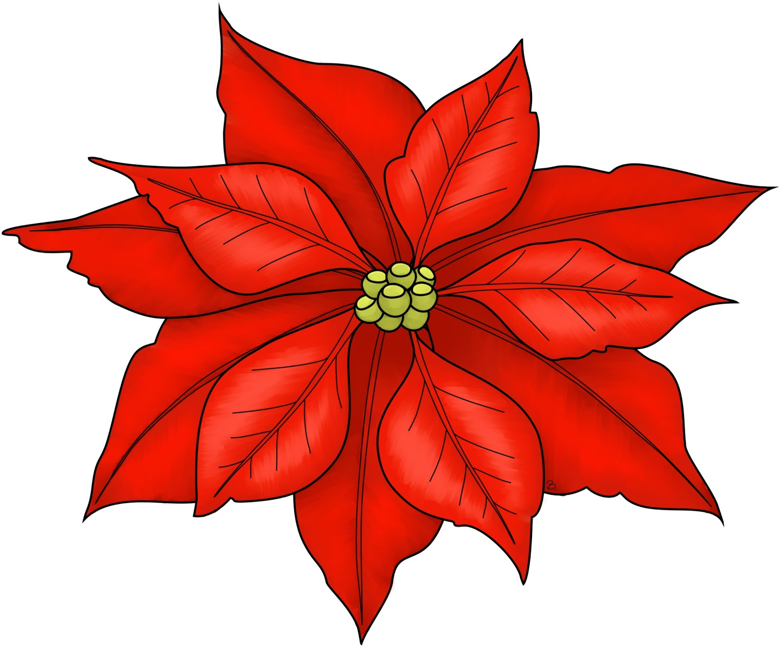 Free coloring pages of paper poinsettia
